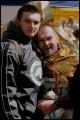 na mecie: Zbigniew Grześkowicz z synem Jarkiem